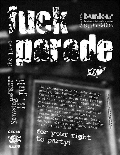 Fuckparade Flyer 1998