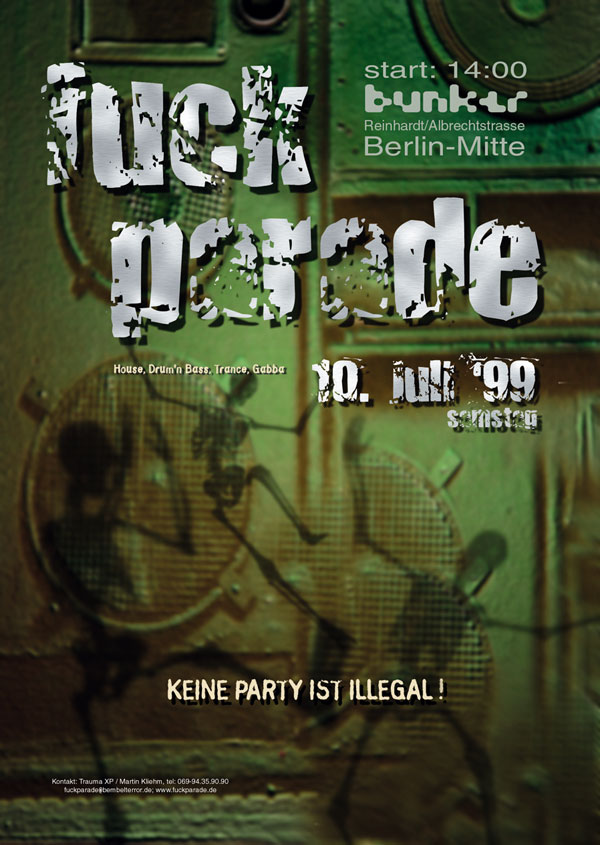 Fuckparade Flyer 1999: Vorderseite