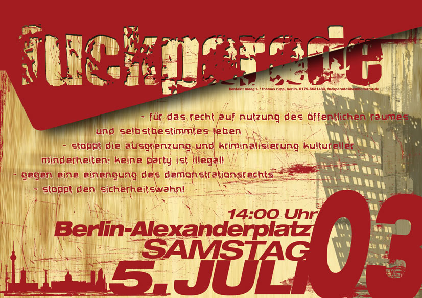 Fuckparade Flyer 2003: Vorderseite
