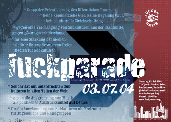 Fuckparade Flyer 2004: Vorderseite