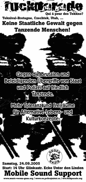 Flyer Fuckparade-Demo in Berlin